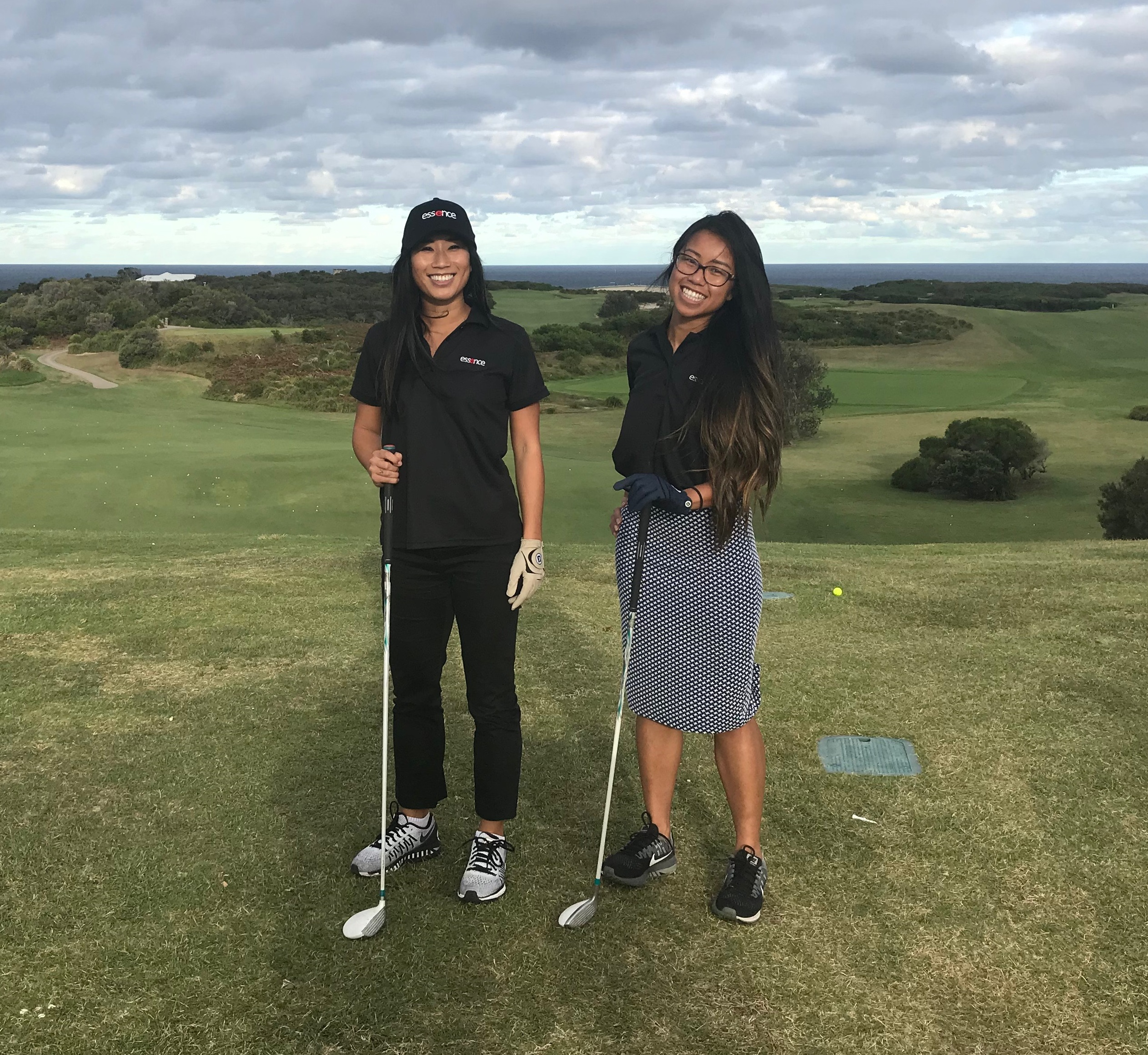 Essence Ladies Kylie and Lena hit the golf course