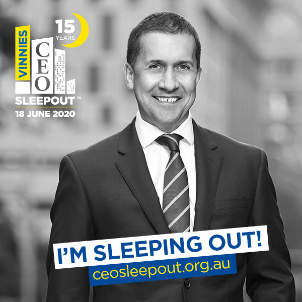 Support David for the Vinnies CEO Sleepout!